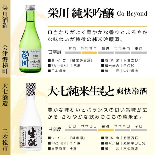 日本酒 ギフト 包装・のし対応無料 純米大吟醸・大吟醸入り 厳選飲み比べ 福島 小瓶 300ml×5本 ふくしまプライド。体感キャンペーン(お酒/飲料)|sakenosakuraya|04