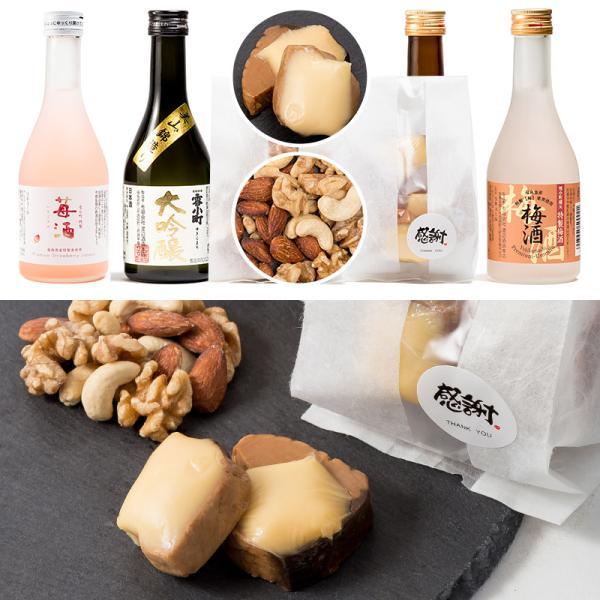 日本酒 おつまみ ギフト 包装・のし対応無料 大吟醸酒入り 飲み比べ 小瓶 300ml×4本 おつまみ2個 ふくしまプライド。体感キャンペーン(お酒/飲料)|sakenosakuraya|02