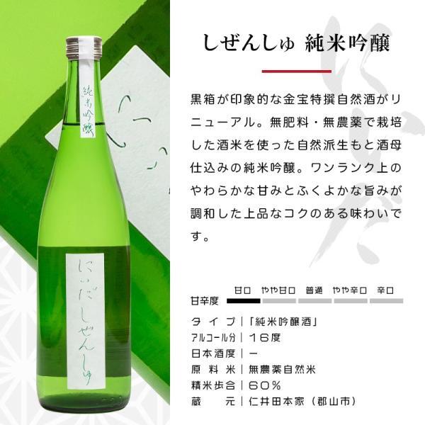 日本酒 飲み比べ ギフト にいだしぜんしゅ 3種セット 720ml ×3本 仁井田本家 福島 ふくしまプライド。体感キャンペーン(お酒/飲料) sakenosakuraya 03