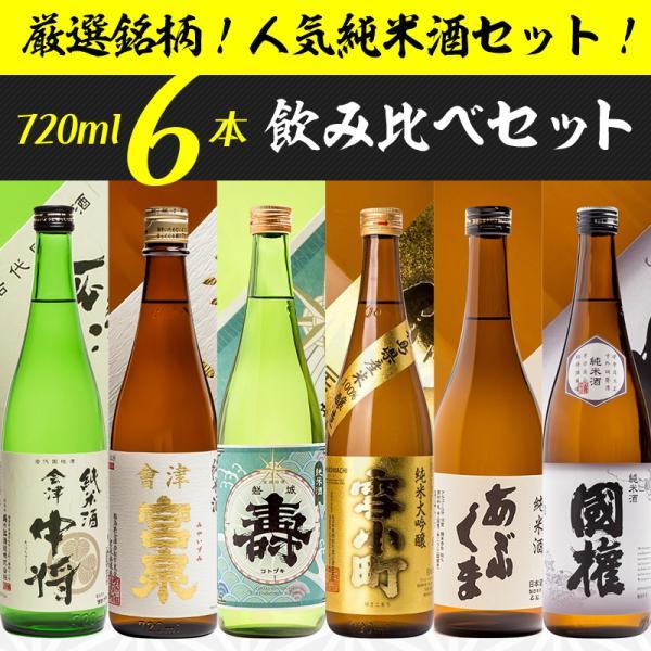 日本酒 飲み比べセット 櫻家人気の地酒 720ml×6本セット part3 福島 ふくしまプライド。体感キャンペーン(お酒/飲料)|sakenosakuraya