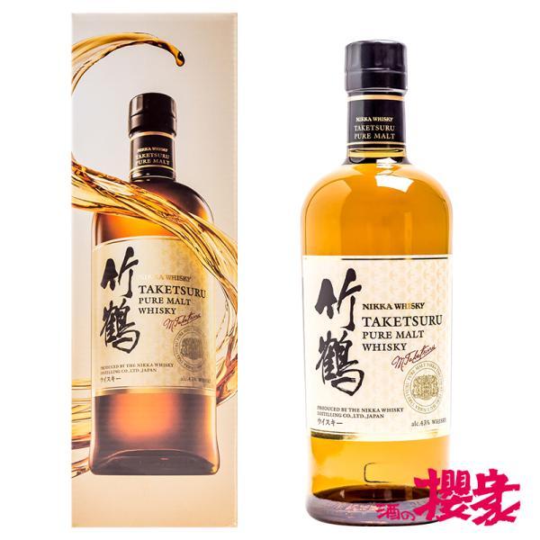 竹鶴 ピュアモルト 簡易カートン付き 43° 700ml ニッカ ウイスキー|sakenosakuraya