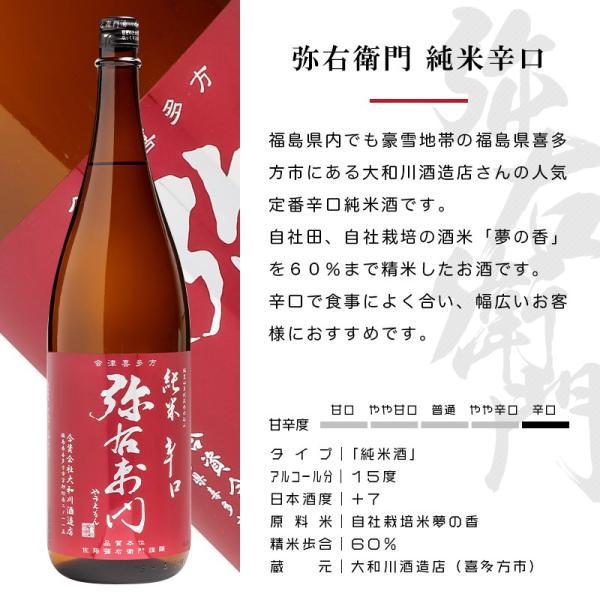 大和川 弥右衛門 純米辛口 1800ml 日本酒 大和川酒造店 福島 地酒|sakenosakuraya|02
