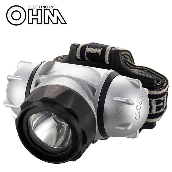 オーム電機 OHM WALED 防水 LEDヘッドライト 200ルーメン LC-SYW432-S