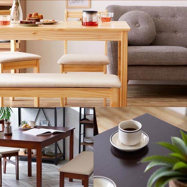 ダイニングテーブル ファミリー 4点 セット ダイニング ベンチ ナチュラル 4点セット おしゃれ 無垢 木製 天然木 Web限定 ST HS セール|sakoda|03