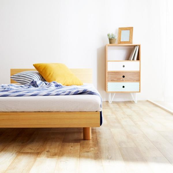 すのこベッド セミダブル ライフ スノコ ベッドフレーム SD 宮棚付き コンセント ベッド すのこ 通気性 脚付き 天然木 おしゃれ SJ Web限定 HS|sakoda|03