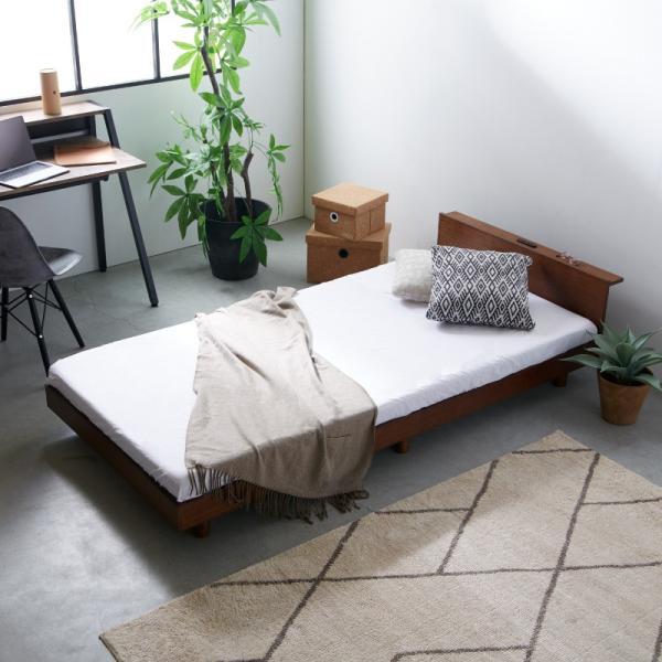 すのこベッド セミダブル ライフ スノコ ベッドフレーム SD 宮棚付き コンセント ベッド すのこ 通気性 脚付き 天然木 おしゃれ SJ Web限定 HS|sakoda|06