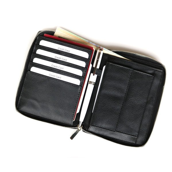 パスポートケース マルチカードケース 革 メンズ財布 カード入 紳士財布 紳士 レザー財布 母子手帳ケース 通帳ケース|saku-saku-shop|02