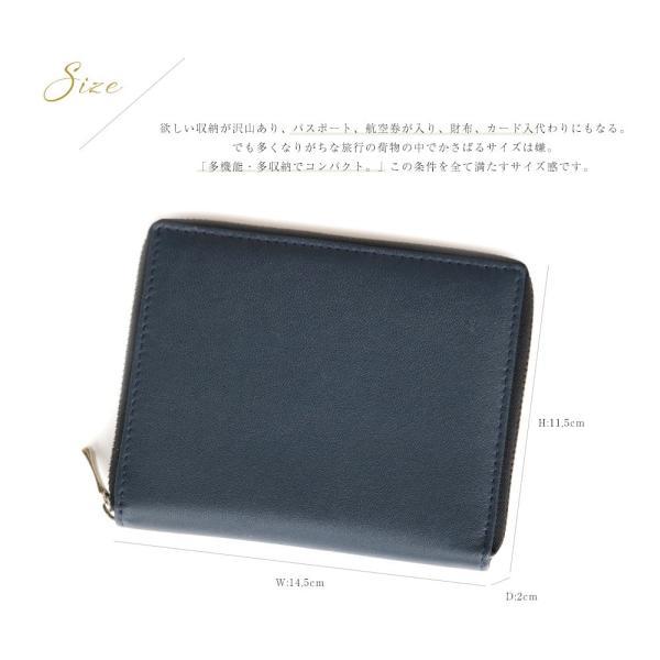パスポートケース マルチカードケース 革 メンズ財布 カード入 紳士財布 紳士 レザー財布 母子手帳ケース 通帳ケース|saku-saku-shop|10