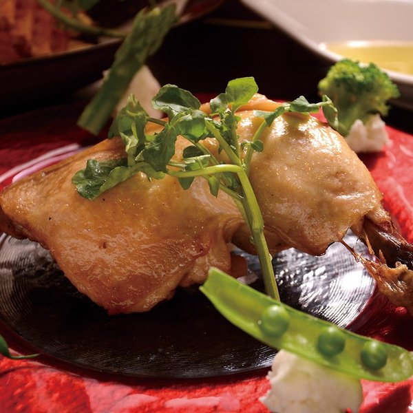 コンフィ 国産鶏もも肉コンフィ 骨付き ものすごくしっとり!ジューシー!特大12オンスの国産骨付き鶏モモ肉のコンフィ|saku2|02