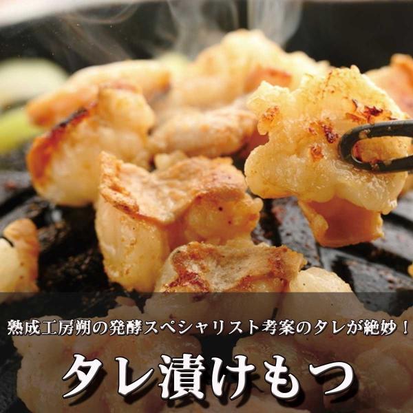 もつ 国産牛 もつ鍋 焼肉 おつまみ タレ漬け 小腸 特製のタレ漬けもつ 500g|saku2