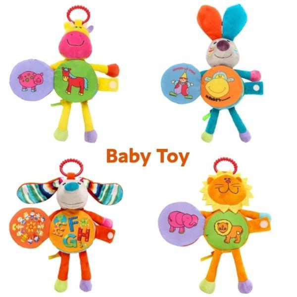 ベビー おもちゃ 0歳 子供 ベビーカートイ ベビーおもちゃ 布絵本 マスコット 吊り下げおもちゃ ハンギングトイ アニマル 出産祝い プレゼント bt-015