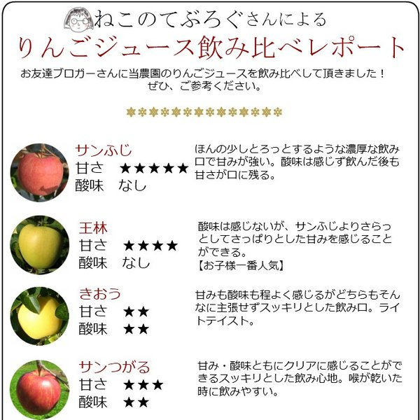 りんごジュース ストレート 青森 無添加 1L 6本 sakuraba-apple 04