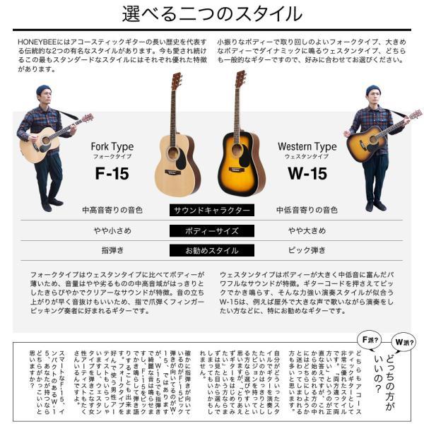 アコースティックギター初心者セット 16点入門セット W-15/F-15(大型)|sakuragakki|05