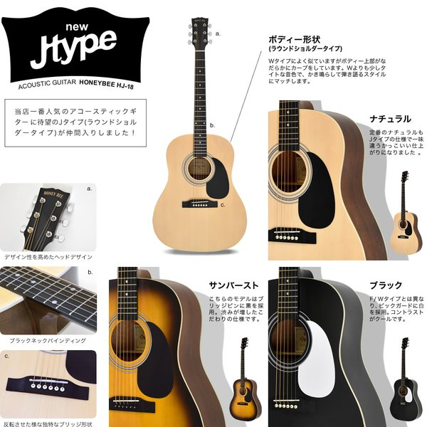 アコースティックギター初心者セット 16点入門セット W-15/F-15(大型)|sakuragakki|10