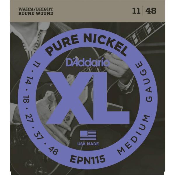"D'Addario ダダリオ エレキギター弦 EPN115 ""XL Pure Nickel Round Wound"" [daddario エレキ弦 EPN-115](ゆうパケット対応)"
