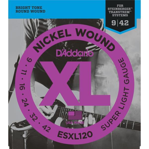 "D'Addario ダダリオ エレキギター弦 ESXL120 (Steinberger用) ""XL Nickel Round Wound"" [daddario エレキ弦 ESXL-120](ゆうパケット対応)"