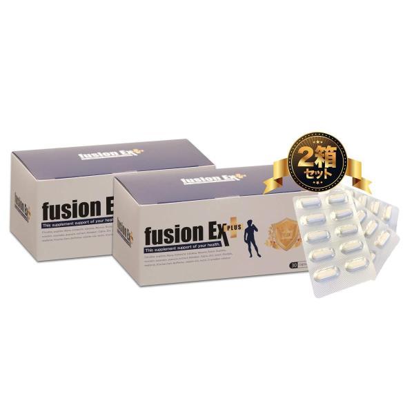 フュージョンEXプラス 2箱セット 2ヶ月分 シトルリン アルギニン他200種類以上の増大成分配合 男の増大サプリ fusionEX plus|sakuramedical