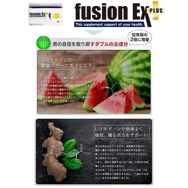 フュージョンEXプラス 2箱セット 2ヶ月分 シトルリン アルギニン他200種類以上の増大成分配合 男の増大サプリ fusionEX plus|sakuramedical|05