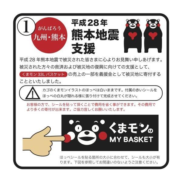くまモンのマイバスケット33L  景品 粗品 販促品 記念品 プチギフト 買い物 レジャー レジカゴ 日本製 sakuranboya 04