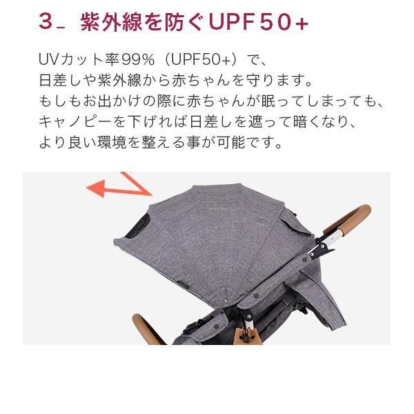 ベビーカー バギー 新生児 A型 エアバギー ココブレーキ EX フロムバース COCO BRAKE FROM BIRTH ヘッドサポート付 sakurausagi 05