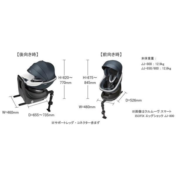 コンビ クルムーヴ スマート エッグショック JJ-650 ISOFIX ホワイトレーベル culmove チャイルドシート 新生児 回転式 幼児|sakurausagi|16