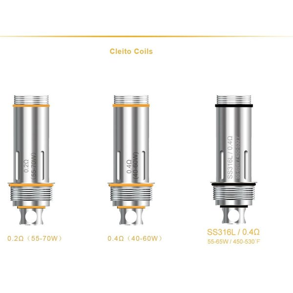 Aspire Cleito Replacement Atomizer Coil アスパイア クリート リプレイスメント コイル 0.2Ω 0.27Ω SS0.4Ω|sakuravapor