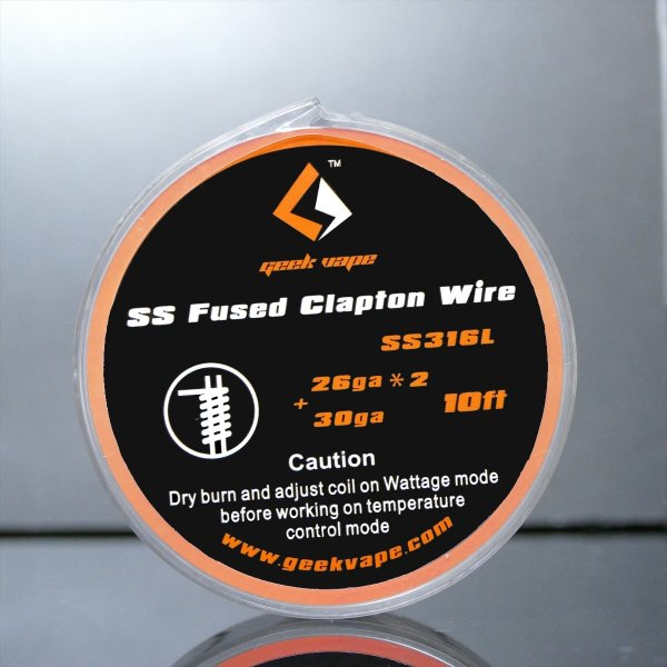 GeekVape SS316L Fused Clapton Wire  26Gx26+30G 10FT|sakuravapor