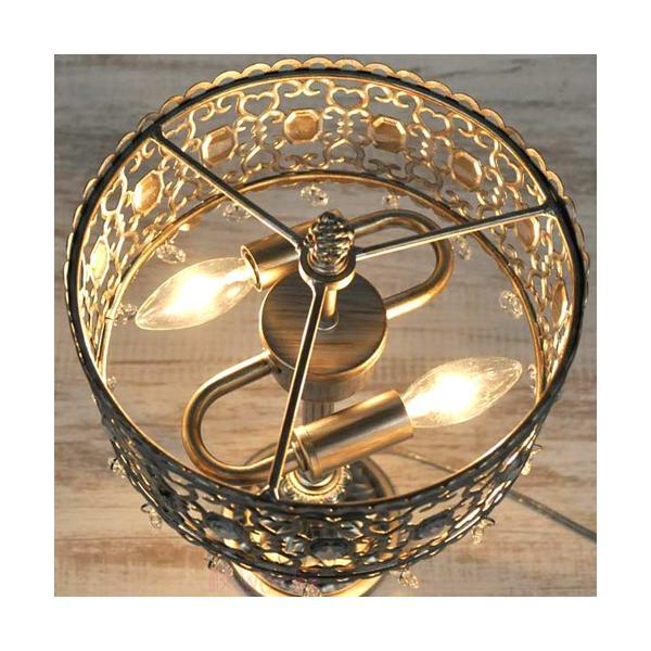 テーブルライト 卓上ライト テーブルランプ アンティークシルバー レトロ  おしゃれ 雑貨 sakuraworks 04