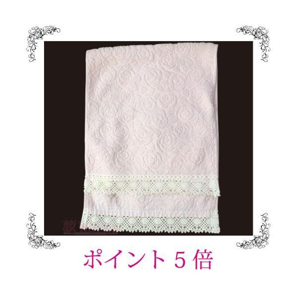 フェイスタオル カントリーローズ バラ 薔薇 レース ピンク おしゃれ 雑貨|sakuraworks