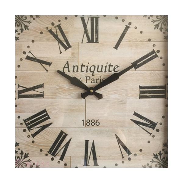 壁掛け時計 ウォールクロック アンティークパリ レトロ アンティーク調 おしゃれ 雑貨 sakuraworks 02