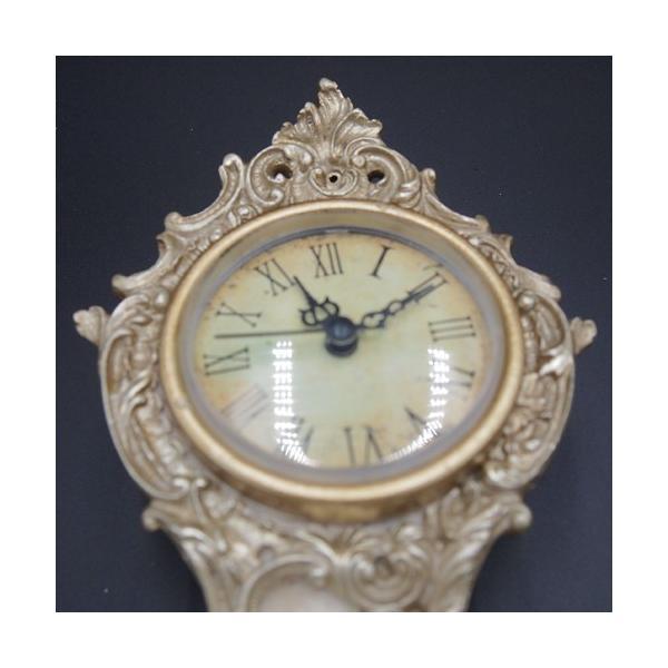 置き時計 レトロ アンティーク調 ヴィクトリア ゴールド アイボリー ゴージャス おしゃれ 雑貨|sakuraworks|02