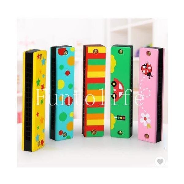 ト知育玩具おもちゃ2歳3歳4歳誕生日プレゼントハーモニカ女の子男の子木のおもちゃキッズ用16穴ミニ3~8歳おうち時間