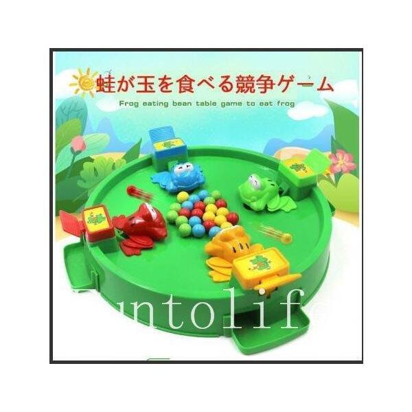 知育玩具おもちゃ3歳2歳4歳蛙が玉を食べる競争ゲーム5歳6歳誕生日プレゼント女の子男の子