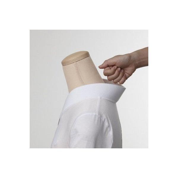 Tシャツ半襦袢 半襦袢 ふぁんじゅ シンプルな 白衿 素早く美しい衿元 本体綿100% M L LL 女性用 白 日本製 ゆうパケット対応|sakusaku-plus|02