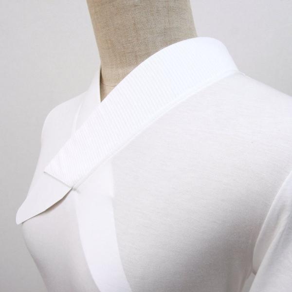 大きいサイズ3L Tシャツ半襦袢 半襦袢 ふぁんじゅ 夏向け 絽 簡単に美しい衿元 本体綿100% 女性用 白 日本製    |sakusaku-plus