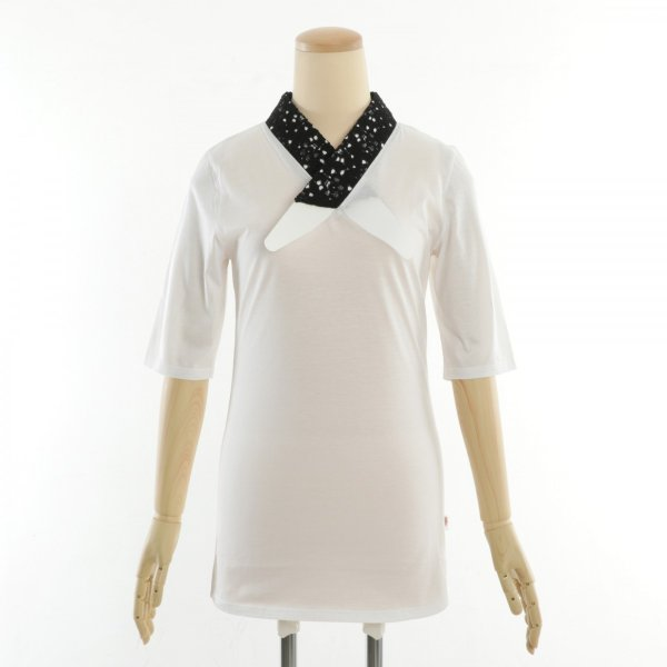 Tシャツ半襦袢 半襦袢 ふぁんじゅ 椿レース 上品なレース衿 簡単に美しい衿元 本体綿100% 女性用 M L LL 白/生成/黒 日本製 sakusaku-plus 09