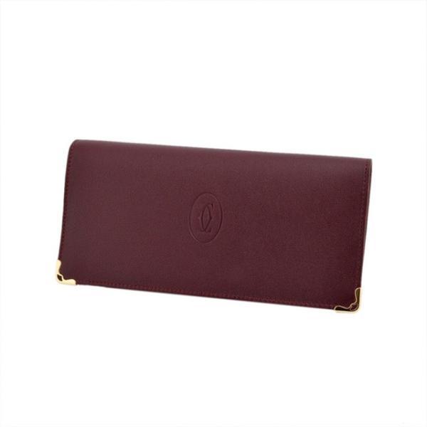 buy popular ac69f b2704 カルティエ Cartier 二つ折り 長財布 マスト ドゥ カルティエ ジップ付 インターナショナル ワレット メンズ レディース 本革 革 ブランド  新品