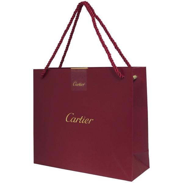 カルティエ Cartier ショップ袋 ショッパー 1枚 Aセット レッド 手持ちつきショップ袋 サブバッグ ラッピング ギフトバッグ 10代 20代 30代 40代 50代 60代