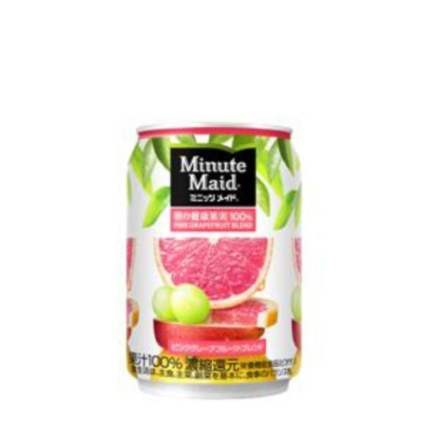 1ケース コカコーラ ミニッツメイドピンク グレープフルーツ・ブレンド 280g缶 飲料 飲み物 ソフトドリンク 24本×1ケース 買い回り 買いまわり ポイント消化|salada-bowl
