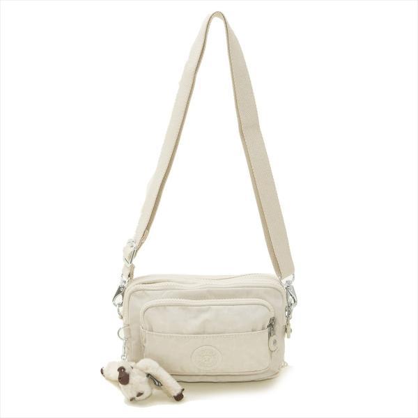 キプリング Kipling ショルダーバッグ K13975 W44 MULTIPLE マルチプル 2way 斜めがけバッグ ウエストバッグ ベルトバッグ TILE WHITE オフホワイト系