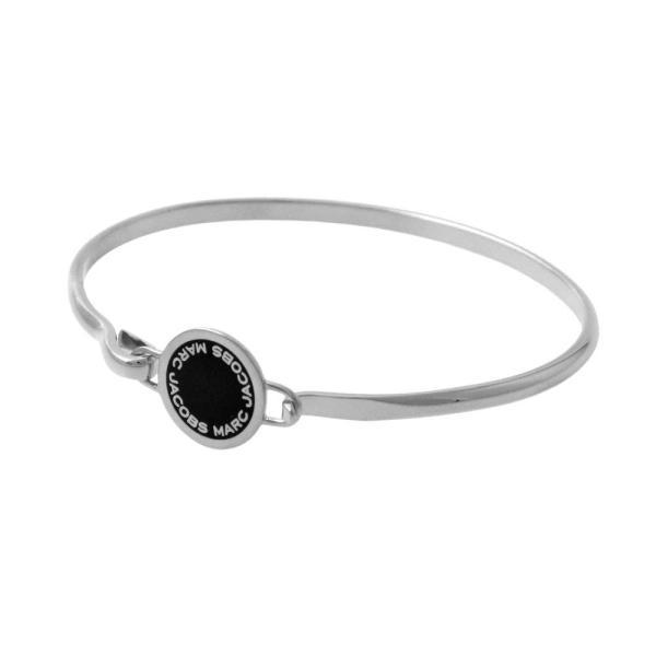 マークジェイコブス Marc Jacobs バングル ブレスレット アクセサリー M0008542-068 Logo Disc Enamel Hinge Bracelet ブラック+シルバー
