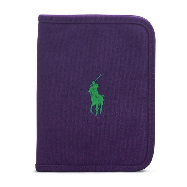 ralph lauren ラルフローレン ラルフ 母子手帳ケース パープル Purple マルチケース キャンバス地 ロゴ刺繍 ブランド 出産祝い プレゼント ギフト|salada-bowl
