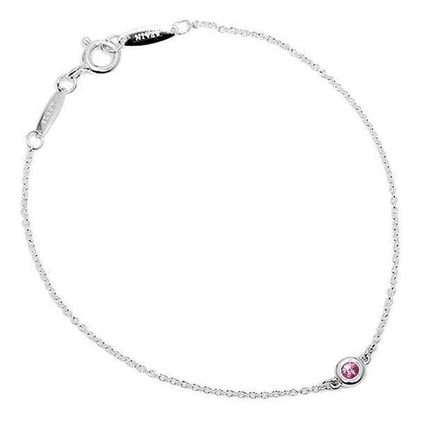 ティファニー Tiffany & Co.  カラー バイ ザ ヤード ブレスレット ピンク サファイヤ スターリング シルバー 0.08ct 7in 25392906