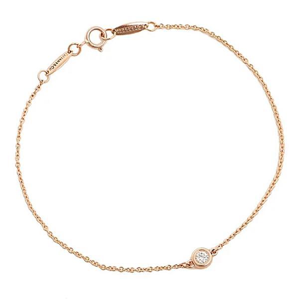 ティファニー Tiffany & Co.  ダイヤモンド バイ ザ ヤード ブレスレット 7in 18R ローズ ゴールド 28274513