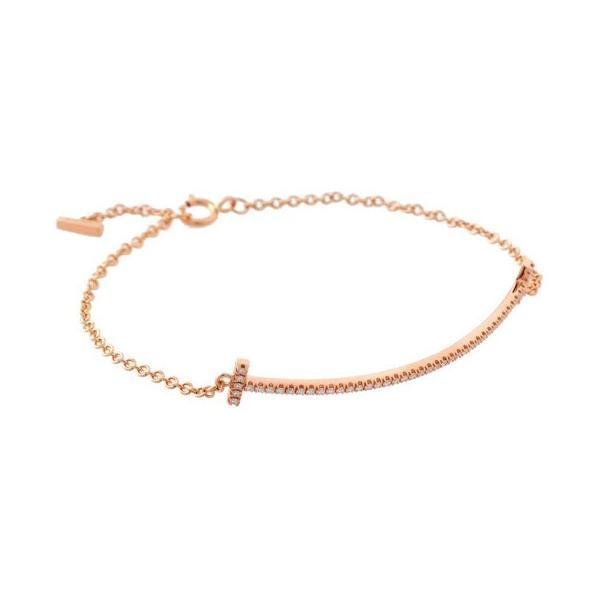 ティファニー TIFFANY&CO 36667206 Tiffany T スマイル ブレスレット ダイヤモンド ミディアム ローズゴールド K18RG バースデー ホワイトデー 新品