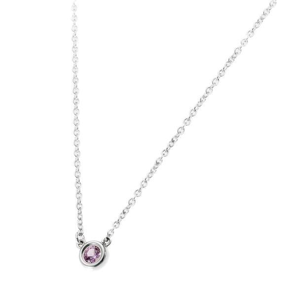 ティファニー Tiffany & Co. レディース アクセサリー エルサ・ペレッティ カラーバイザヤード ペンダント ネックレス ピンクサファイヤ 0.08ct 25390474