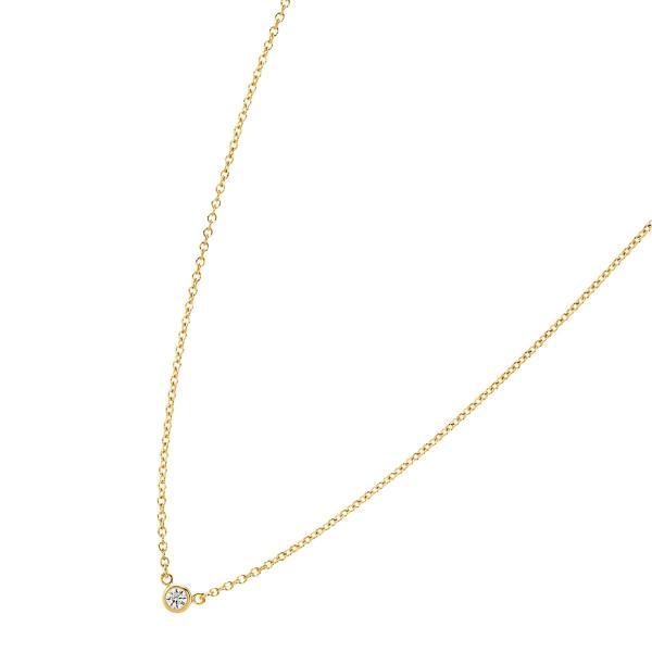 ティファニー ネックレス 一粒ダイヤ ゴールド 新品 ダイヤ 一粒 ミニ バイザヤード ペンダント 1粒ダイヤモンド シンプル レディース ブランド ギフト 母の日