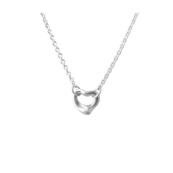 ティファニー TIFFANY&CO 35671722 エルサ・ペレッティ ダイヤモンド バイ ザ ヤード オープン ハート ペンダント 0.06ct  新品