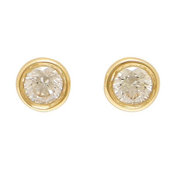 ティファニー Tiffany & Co.  ダイヤモンド バイ ザ ヤード ピアス 両耳 0.10ct 18Y 12818653