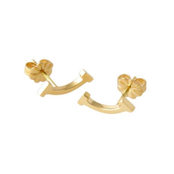 ティファニー TIFFANY&CO 36667273 ティファニー T スマイル ピアス イエローゴールド レディース 女性 ギフト プレゼント 新品